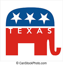 republicans Texas - very big size republicans party elephant...