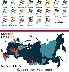Republics of Russia - Vector of republics of Russia with ...