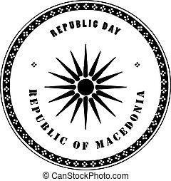 republiek, dag, macedonië