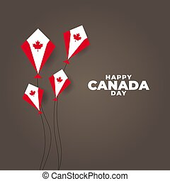 republiek, nationale, canadees, vector, illustratie, day., canada
