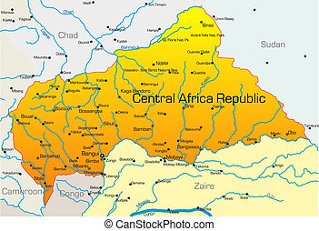 republik, afrika, mellerst, land