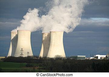 republik, dukovany, atomkraft, tschechisch, pflanze