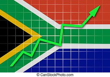 republik, fahne, afrikas, süden