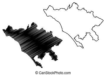 republik, vektor, stad, skiss, huvudstad, karta, italy), (italian, metropolitansk, illustration, rom, roma, klottra