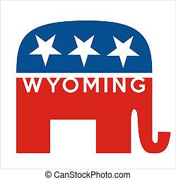republikanie, wyoming