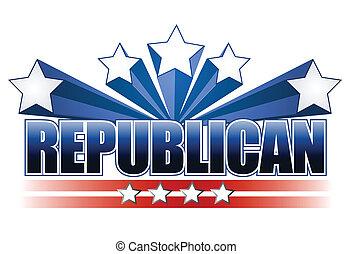 republikanin, znak