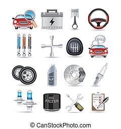 repuestos de automóviles, y, servicio