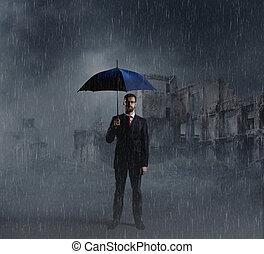 reputacja, apokaliptyczny, parasol, default, na, setback, ...