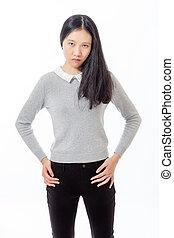 reputacja, biodra, nastolatek, chińczyk, siła robocza