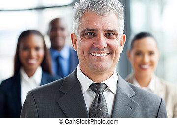reputacja, biznesmen, senior, współpracowniczki