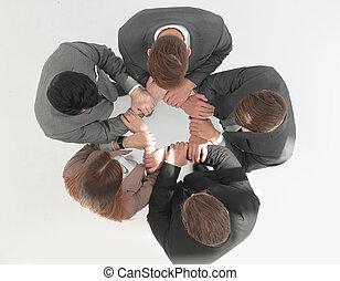 reputacja, .business, górny, drużyna, koło, prospekt