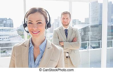 reputacja, kolega, środek, jej, przedstawiciel, za, rozmowa telefoniczna