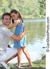 reputacja, ojciec, córka, riverbank
