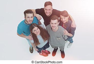 reputacja, pojęcie, grupa, studenci, -, razem, przyjaźń