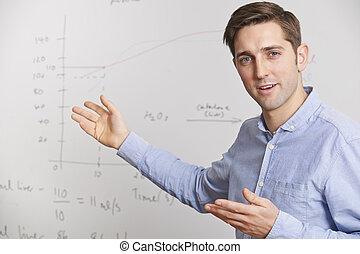 reputacja, przód, whiteboard, nauczyciel