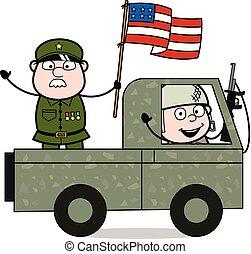 reputacja, sprytny, usa, armia, -, ilustracja, żołnierz, ...