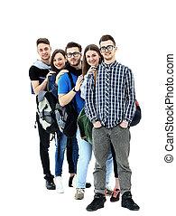 reputacja, studenci, kreska, grupa