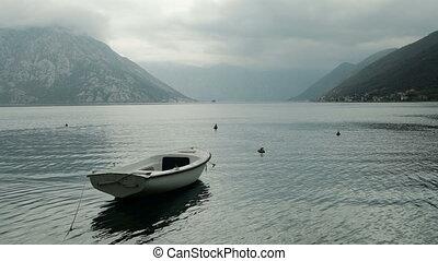 reputacja, woda, biały, sea., łódka