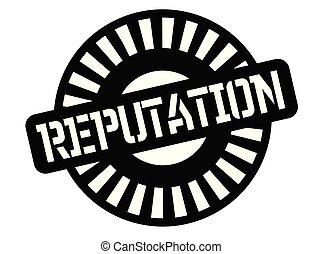Reputation black stamp, sign, label Black badge series