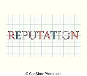 reputation concept- vector illustration