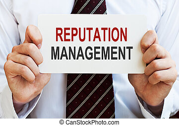 Reputation Management card - Reputation Management. Card in...