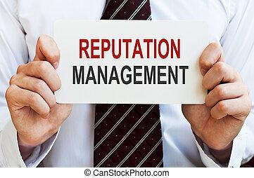 Reputation Management card - Reputation Management. Card in...