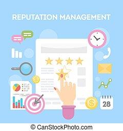 Reputation management concept. - Reputation management...