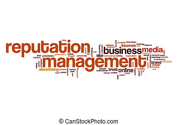Reputation management word cloud concept