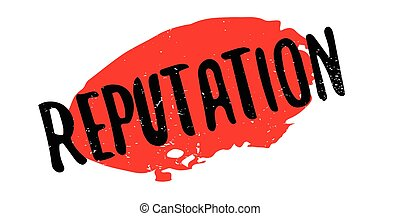 Reputation rubber stamp. Grunge design with dust scratches....
