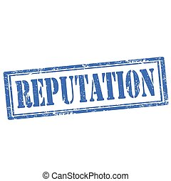 Reputation-stamp - Grunge rubber stamp with text...