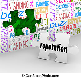 Reputation Wall Trusted Honorable Referral Words -...