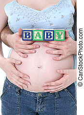 Request - Alphabet Blocks Held By Expecting Parents Over...