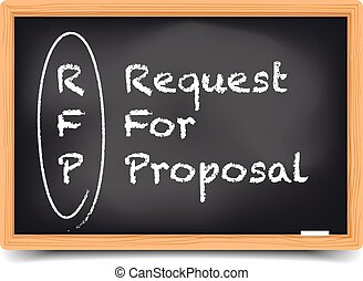 Request for Proposal - detailed illustration of a blackboard...