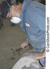 REQUEST Hammer - Autobody Tech working on fender
