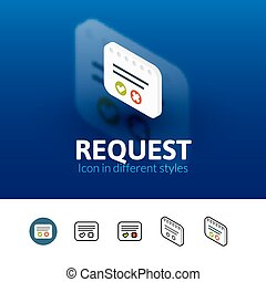 Request icon in different style