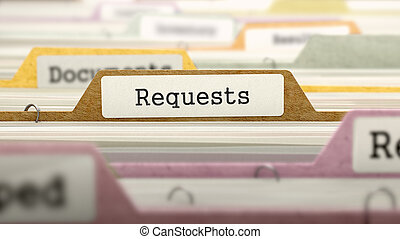 requests., catalogue, dossier, marqué