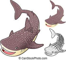 Plong e baleine dessin anim - Requin baleine dessin ...