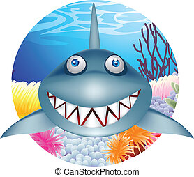 requin, caractère, dessin animé