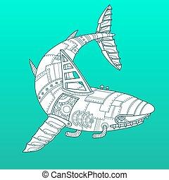 D coratif requin ornement tatouage requin decoration for Requin decoration