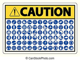 Required Personal Protective Equipment (PPE) Symbol, Safety ...