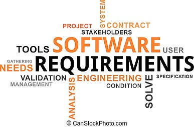 requisiti, -, nuvola, parola, software