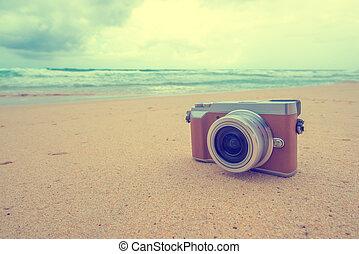 Rero camera on the beach