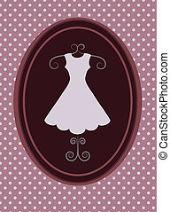 rerto dress, fashion shop. vector illustration -1