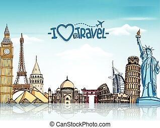 resa, bakgrund, turism