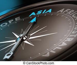 resa,  destination,  -, Asien