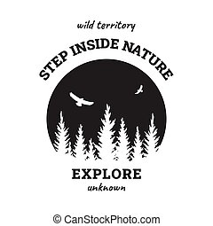 resa, illustration., vektor, emblem, t-shirt, wild., design.