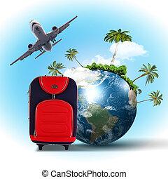 resa och turism, collage