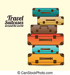 resa, suitcases
