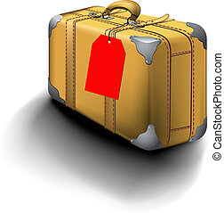 resa, traveled, märke, resväska