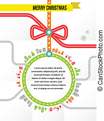 resa, vektor, -, jul, bakgrund
